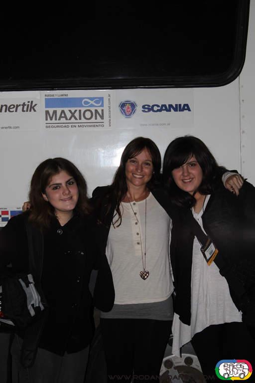 Florencia con Ornella y Lara