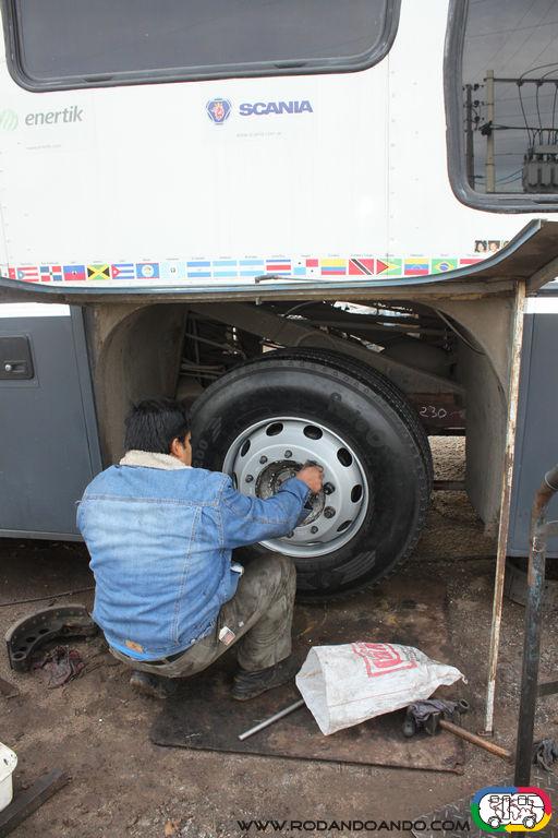 Ultimos ajustes ya con las nuevas llantas y neumáticos.