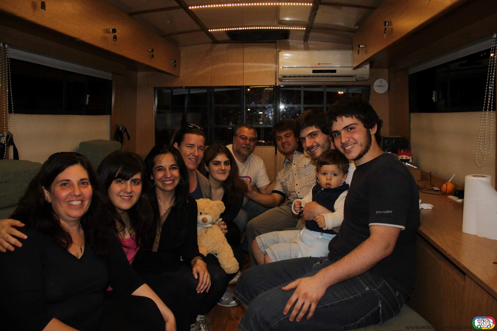 Con Eva, Rodrigo, Koldo y Eva